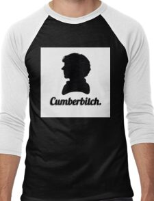 Cumberbitch silhouette design Men's Baseball ¾ T-Shirt