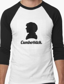 Cumberbitch silhouette design Men's Baseball ¾ T-Shirt