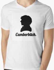 Cumberbitch silhouette design Mens V-Neck T-Shirt