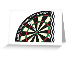 Dart logo - Darts, the game with a point Greeting Card
