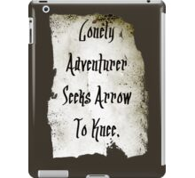 Lonely Adventurer iPad Case/Skin