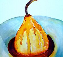 Delicious..Poached Pear in a  Mixed Berry Coulis by ©Janis Zroback