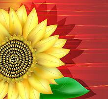 Sunflower Close up by lydiasart