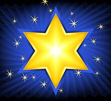 Gold Star of David by lydiasart