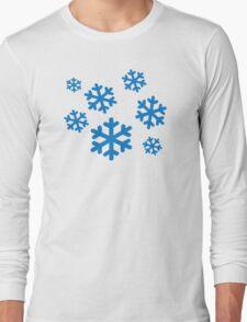 Blue snowflakes Long Sleeve T-Shirt