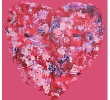 Wild and Unruly - Abstract Heart II - Pink Photographic Print