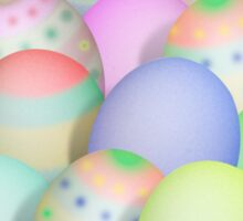 Pastel Colored Easter Eggs Sticker