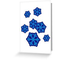 Snow snowflakes Greeting Card