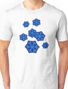 Snow snowflakes Unisex T-Shirt