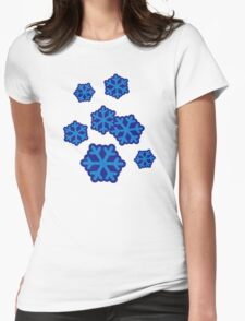 Snow snowflakes Womens Fitted T-Shirt