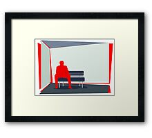 Person In Stress Framed Print