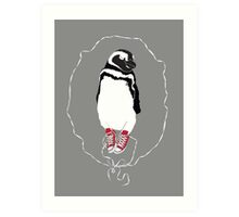 Happy Penguin in Converse Art Print