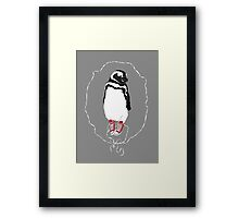 Happy Penguin in Converse Framed Print