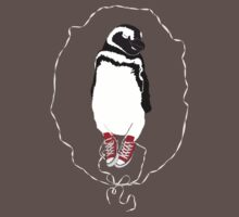 Happy Penguin in Converse T-Shirt