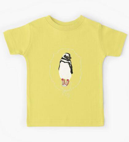 Happy Penguin in Converse Kids Tee