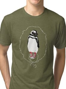 Happy Penguin in Converse Tri-blend T-Shirt