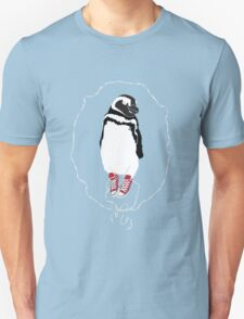 Happy Penguin in Converse Unisex T-Shirt
