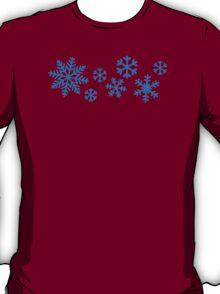 Blue snowflakes T-Shirt