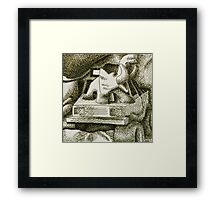 Crosshatch Still Life Framed Print