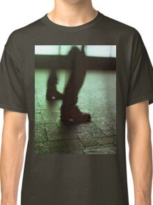 Surrealist photo of legs walking without bodies square color analogue medium format film Hasselblad photo Classic T-Shirt