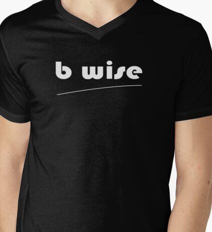 b wise Mens V-Neck T-Shirt