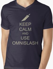 KEEP CALM AND USE OMNISLASH Mens V-Neck T-Shirt