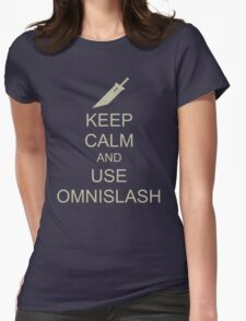 KEEP CALM AND USE OMNISLASH Womens Fitted T-Shirt