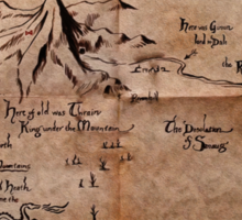 Thror's Map | Thorin Oakenshield's Map - Digital Artwork  Sticker