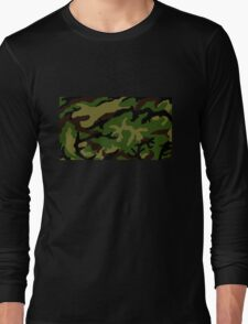 Camouflage Military Tribute Long Sleeve T-Shirt