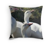 Snow Geese Fifteen Throw Pillow