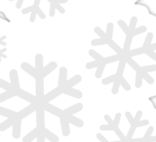 White snowflakes Sticker