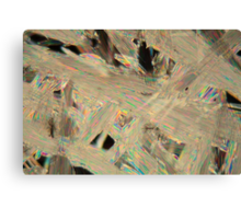 Painkillers: Crystals of acetylsalicylic acid under a microscope. Canvas Print