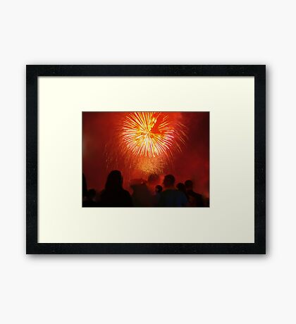 the red strangers Framed Print