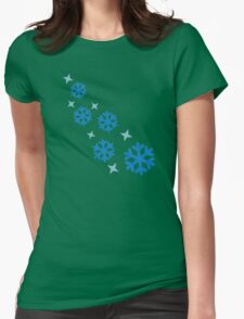 Blue snowflakes Womens Fitted T-Shirt
