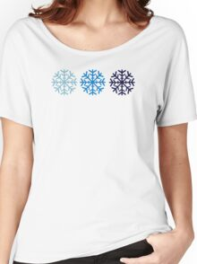 Blue snow Women's Relaxed Fit T-Shirt