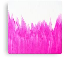 Neon Pink Brushed Canvas Print