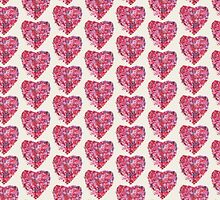 Wild and Unruly - Abstract Heart by Kimberley Bruce