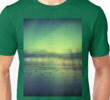 Coastal shoreline in surreal green blue Hasselblad medium format film analog photograph Unisex T-Shirt