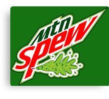 """Mtn Spew"" - Mountain Dew Parody Canvas Print"