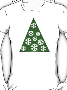 Christmas tree snow T-Shirt