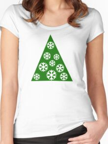 Christmas tree snow Women's Fitted Scoop T-Shirt