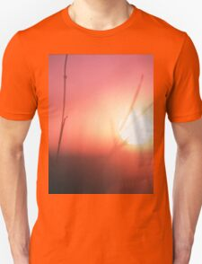 Foliage in silhouette against sun square medium format film analog photography Unisex T-Shirt
