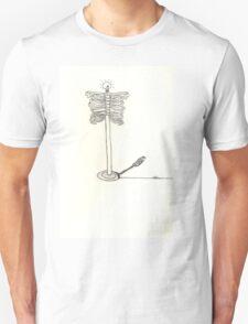 skeleton sketch surreal light T-Shirt