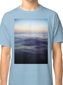 Mediterranean sea off Ibiza in dusk sunset evening colors Hasselblad square medium format film analogue photo Classic T-Shirt