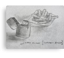 zippo ashtray Canvas Print