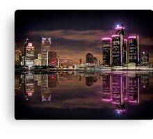 Refections of Detroit Canvas Print
