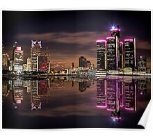 Refections of Detroit Poster