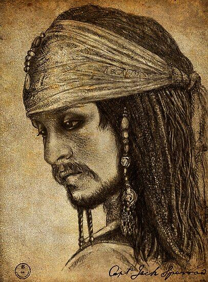 """""""Johnny Depp as Captain Jack Sparrow"""" Posters by Gorgidas ..."""