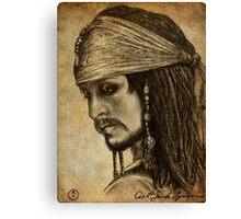 Johnny Depp as Captain Jack Sparrow Canvas Print