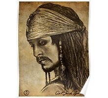 Johnny Depp as Captain Jack Sparrow Poster